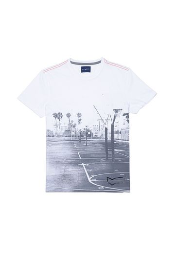 GAS | WHITE Striped T-Shirt