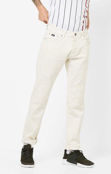 GAS | Men's Norton Carrot Fit Off-white Jeans