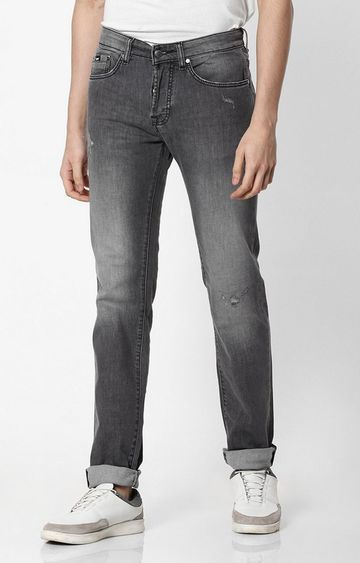 GAS | Lightly Washed Mid-Rise Slim Fit Jeans