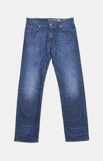 GAS   Men's Memphis Straight Fit Dark Blue Jeans