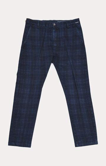 GAS | Blue Checked Straight Chinos