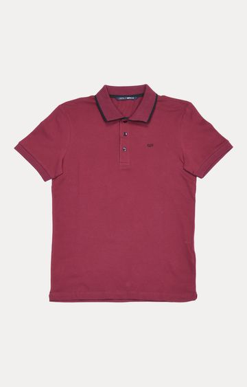 GAS | Dark Pink Solid Polo T-Shirt