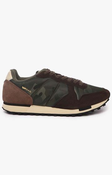 GAS | Dark Green Parris Camu NYX Casual Lace-ups