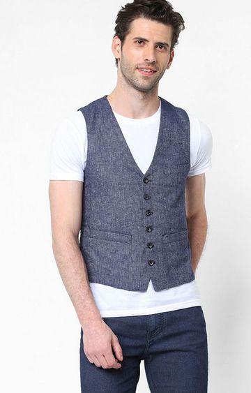 GAS | Textured Waistcoats with Welt Pockets