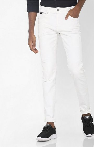 GAS | Sax Zip Mid-Rise White Skinny Jeans
