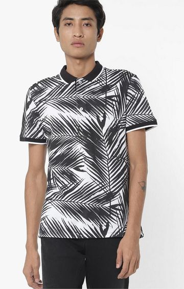 GAS | Babur/S Printed Black Polo T-Shirt