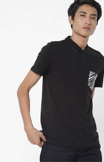 GAS | Yoyo/S Patch Pocket  Black Polo T-Shirt