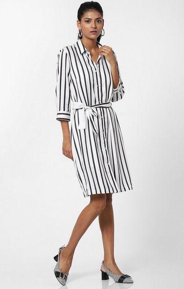 GAS | Women's regular fit collared full sleeve striped Maree dress