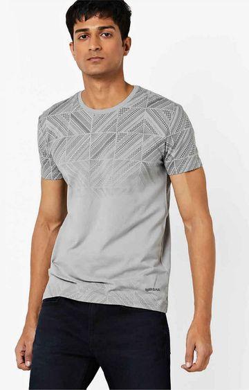 GAS | Scuba Printed Crew Neck Grey T-Shirt