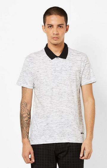 GAS | Heathered Slim Fit Polo T-shirt with Step Hem