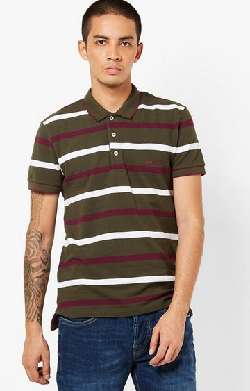 GAS | Ralph Green Stripes Polo T-Shirt