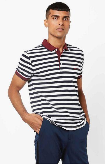 GAS | Ralph White Stripes Polo T-Shirt