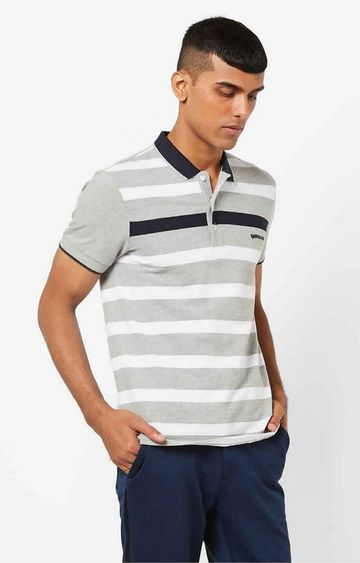 GAS | Ralph Grey Stripes Polo T-Shirt