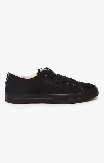 GAS | Black Express Low Text Sneakers