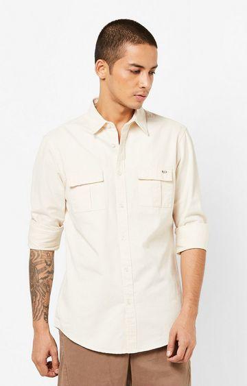 GAS | Men's Abner solid beige shirt