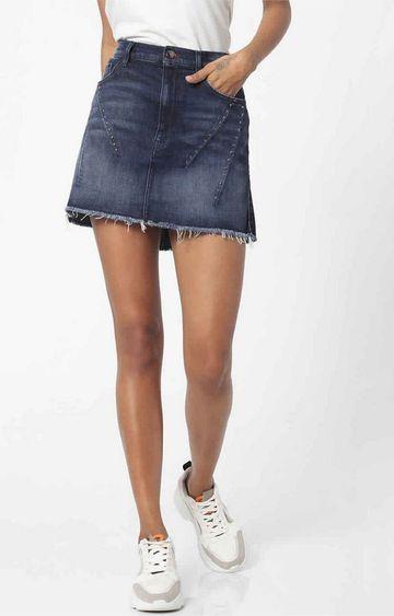 GAS | Women's straight fit mid wash Joplin skirt