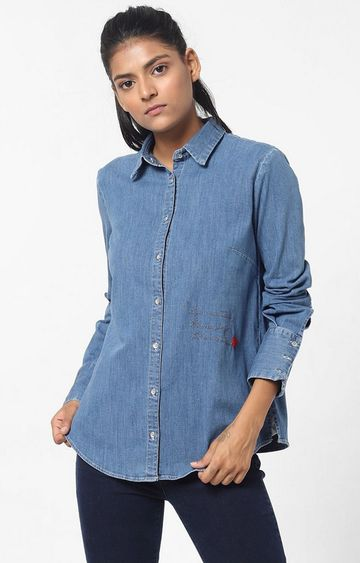 GAS | Women's regular fit collared full sleeves Maribel X song shirt