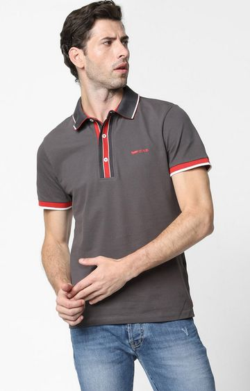 GAS | Agap/S Solid Grey Polo T-Shirt