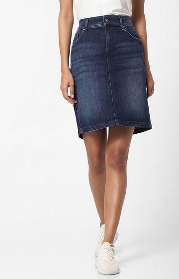 GAS   Women's tight fit A-line Beverley longuette skirt