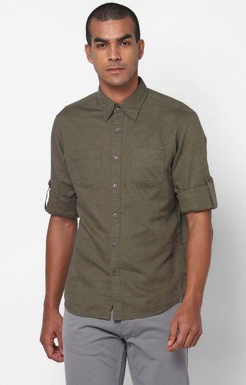 GAS | Men's Dab solid green shirt