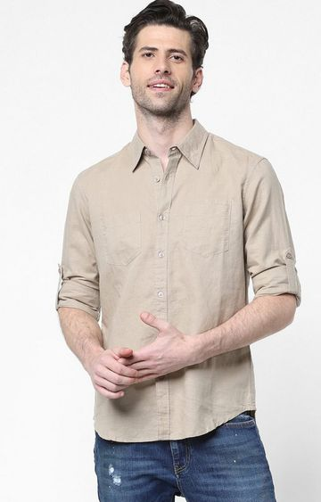 GAS | Men's Dab solid beige shirt