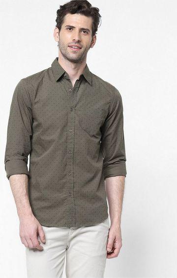 GAS | Men's Flix SS all over printed green shirt