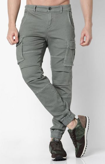 GAS | Men's Bob gym up soft gray trousers