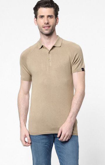 GAS | Ryce Beige Solid Polo Shirt