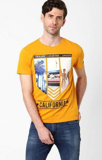 GAS | Scuba Printed Crew Neck Pumpkin T-Shirt