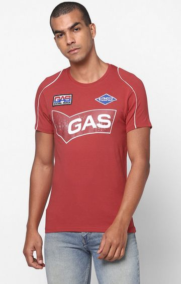 GAS | Scuba/S Printed Round Neck Souce T-Shirt