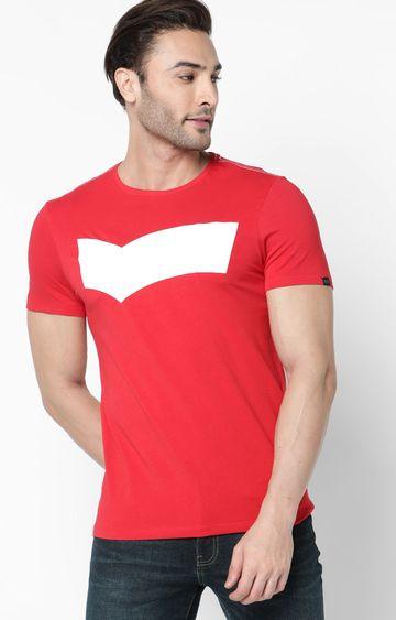 GAS | Scuba Logo Printed Deep Coral T-Shirt