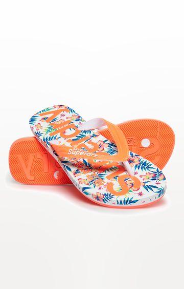 Superdry   Orange Flip Flops