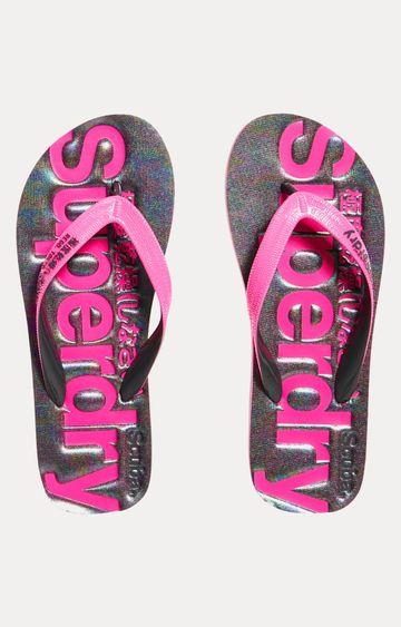 Superdry   Iridescent Charcoal Marl Flip Flops