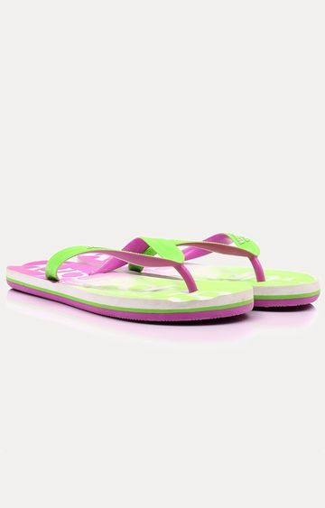 Superdry   Purple and Green Flip flops