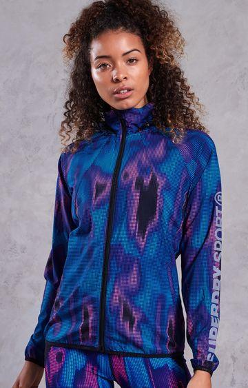 Superdry | Blue Printed Activewear Jacket