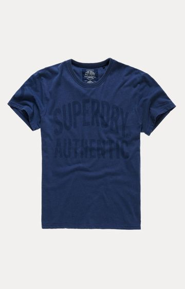 Superdry | Authentic Rebel Navy Printed T-Shirt