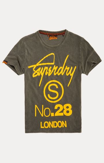 Superdry | Overdyed Vintage Grey Printed T-Shirt