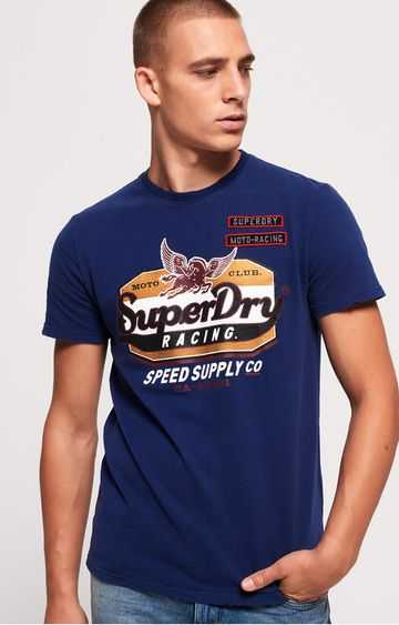 Superdry | Blue Printed T-Shirt
