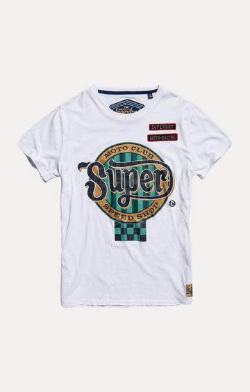 Superdry | White Printed T-Shirt