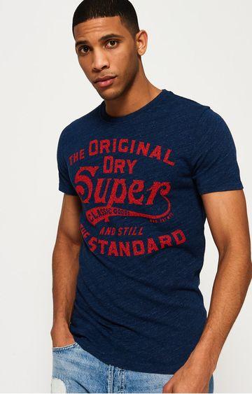 Superdry | Highlands Blue Printed T-Shirt