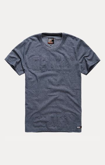 Superdry | Osaka 6 Embossed Grey Printed T-Shirt