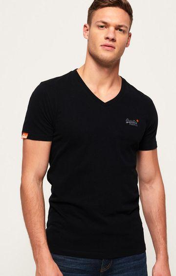 Superdry | Black Label Vintage Embroidered V-Neck T-Shirt