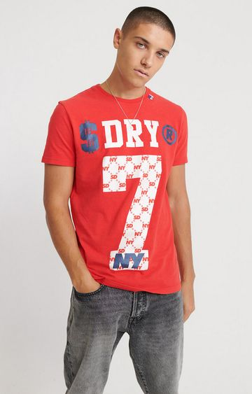 Superdry   Heritage Red Dollar Dry T-Shirt