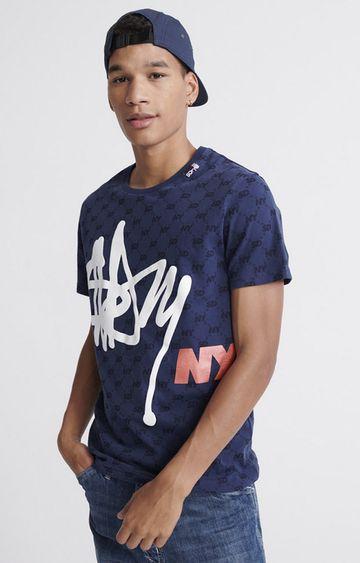 Superdry   Sport Navy Mega Monogram Original T-Shirt