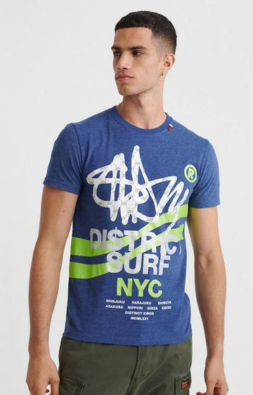 Superdry | Supermarine Navy Marl NYC District T-Shirt
