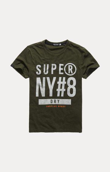 Superdry | Olive Printed T-Shirt