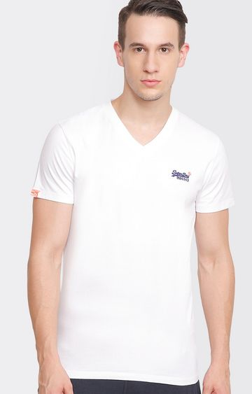 Superdry | White Solid T-Shirt