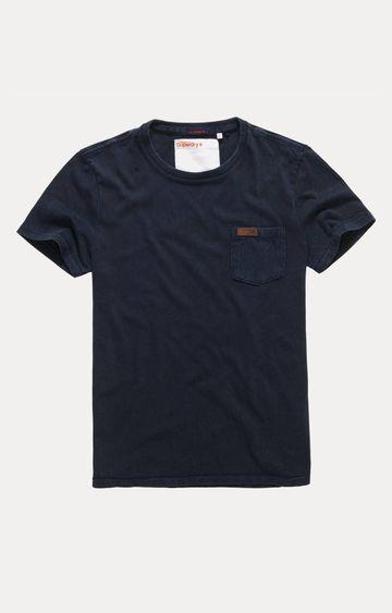 Superdry | Superdry La Pkt Navy Solid T-Shirt