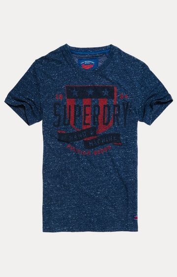 Superdry | Worn Navy Snowy Printed T-Shirt