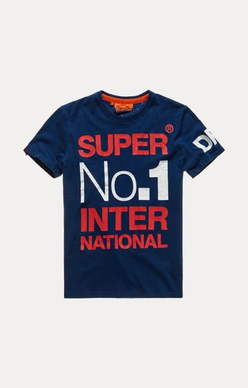 Superdry | Navy Printed T-Shirt